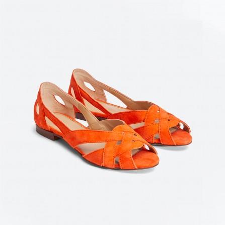 Sandales MR MOUSTACHE Clementine Suede Orange