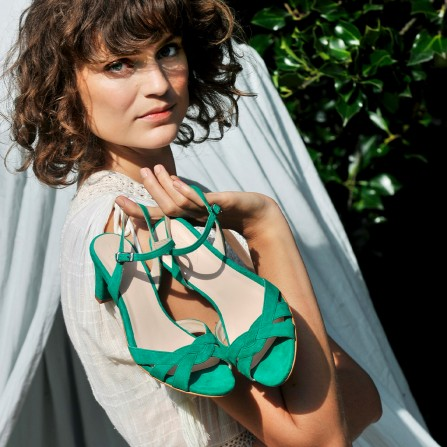 Sandales AMESKA Palerme Vert Herbe