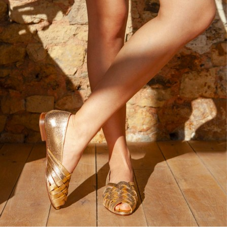 Sandales RIVECOUR N°64 Leather Gold