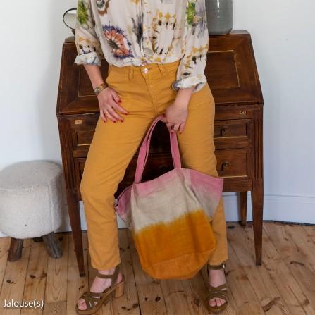 Pantalon ISLOW Morgane Coton Lin Stret Pollen