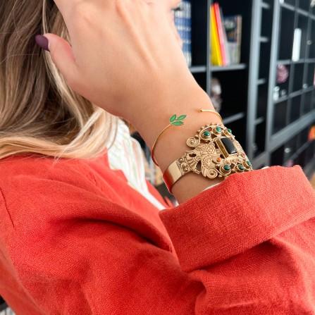 Bracelet ATELIER PLUME Zora Malachite