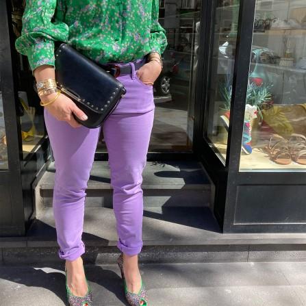 Pantalon ISLOW Mai Drill Pes Mauve