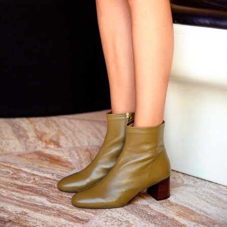 Boots RIVECOUR N°401 Cuir Nappa Olive