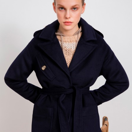 Trench SUNCOO Evelyn Bleu Nuit