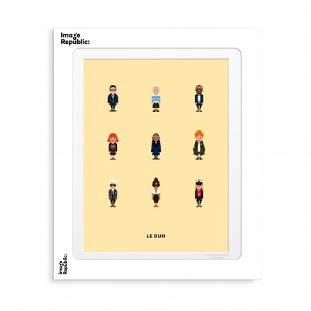 Affiche IMAGE REPUBLIC 30x40 Le Duo Pl Createurs