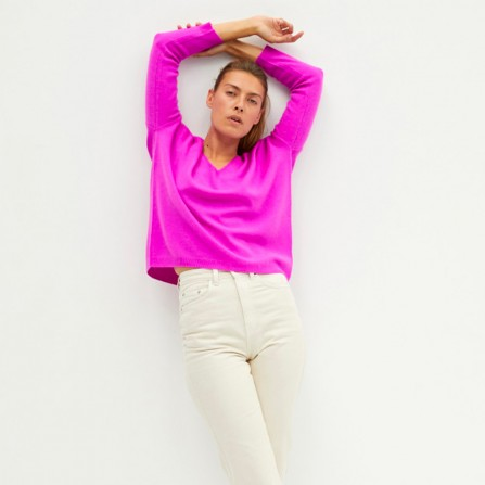 Pull ABSOLUT CASHMERE Angele Violet Fluo