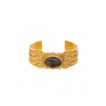 Bracelet ATELIER PLUME Colette Labradorite / Pyrite