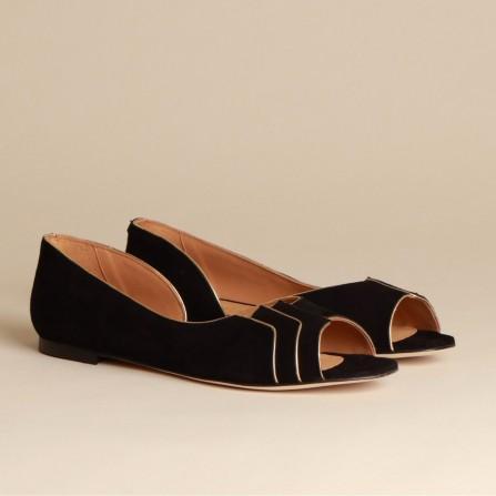 Sandale EMMAGO Tamara Suede Black & Gold