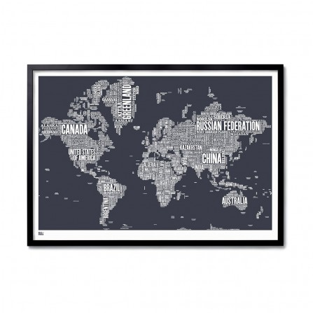 Affiche BOLD&NOBLE World Slate 100X70cm