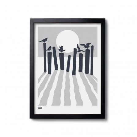 Affiche BOLD&NOBLE On The Beach Gris 30X40cm