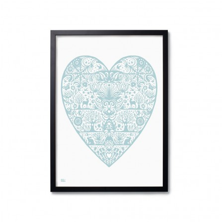 Affiche BOLD&NOBLE My Heart Blue 50X70cm
