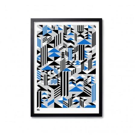 Affiche BOLD&NOBLE Higher Blue 50X70cm