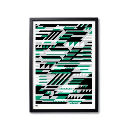 Affiche BOLD&NOBLE Faster Green 50X70cm
