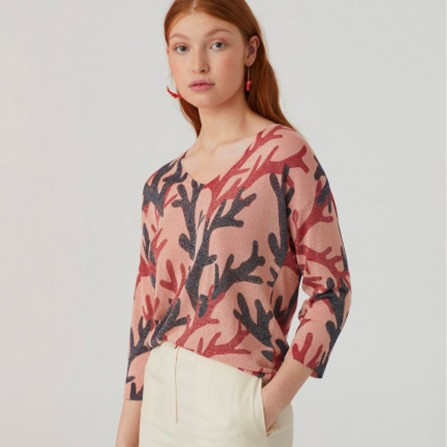 Pull NICE THINGS Corals Print Lurex WKK021 438