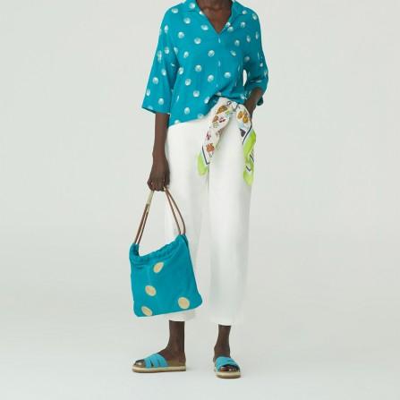 Pantalon NICE THINGS Colors Sarga WWK098 000