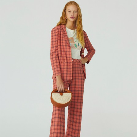 Blazer NICE THINGS Linen Checks WWK085 437