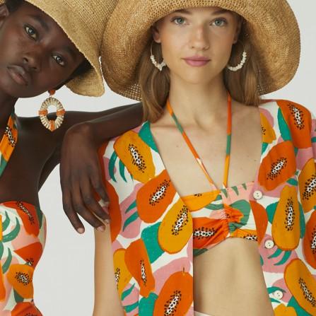 Maillot De Bain NICE THINGS Small Papaya Print Bikini WQK002 620