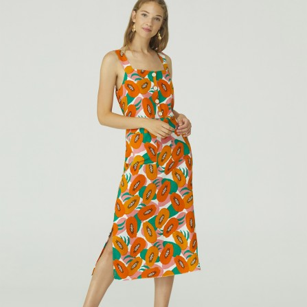 Robe NICE THINGS Small Papaya Print Midi WWK039 620