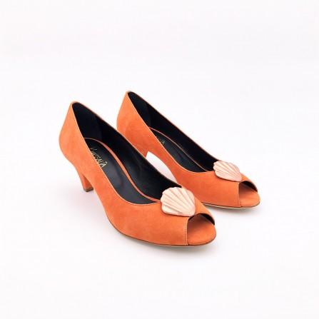 Escarpins KA MASSALIA Jelly Velours Orange