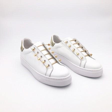 Baskets MI/MAI Joe Plateform Gold White