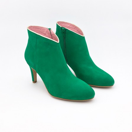 Boots CORALIE MASSON Emily Vert Or