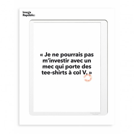 Affiche IMAGE REPUBLIC 30x40 Loic Prigent 23 Je Ne Pourrais