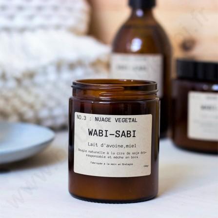 Bougie WABI SABI N°3 Nuage Végétal Moyen Format