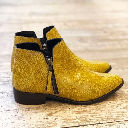 Boots Plates IPPON VINTAGE Sting Hill Vernis Calgary Moutarde