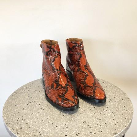 Boots Talon Plat EMMAGO Nola Pyton Cognac