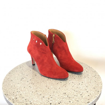 Boots Talon EMMAGO Tania Suede Red & Nappa Gold