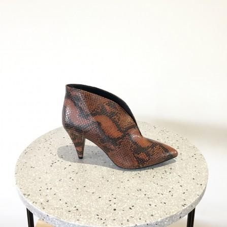 Boots Talon KA MASSALIA Jane Python Caoba