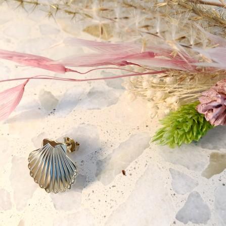 Boucles d'Oreilles CHRISTELLE dit CHRISTENSEN Coquillage M