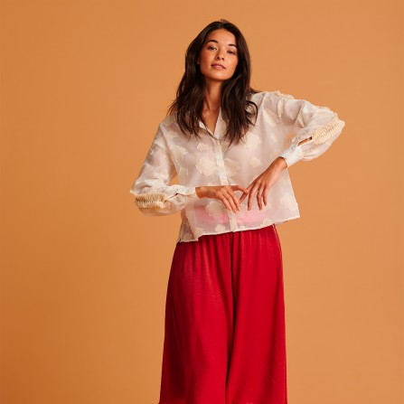 Blouse POM Floating Clouds