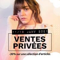 DU LUNDI 11 AU MARDI 19 JANVIER INCLUS VENTES PRIVÉES SUR L'E-SHOP C'est parti pour d'irrésistibles réductions ! -30% sur une sélection d'articles, craquez, faîtes-vous plaisir sur www.jalouses-store.fr